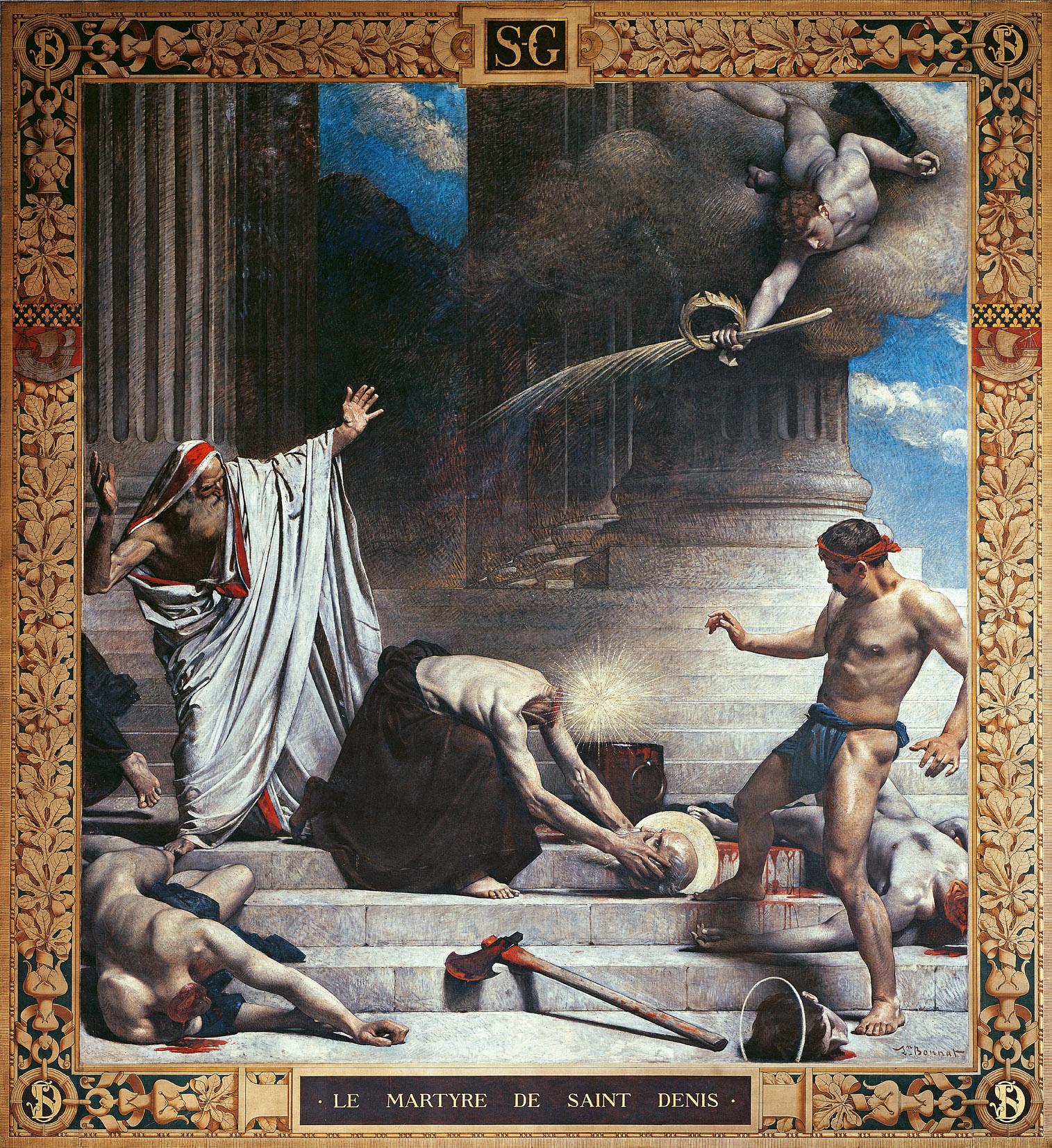 The Martyrdom of St. Denis, by Léon-Joseph-Florentin Bonnat, c. 1885.