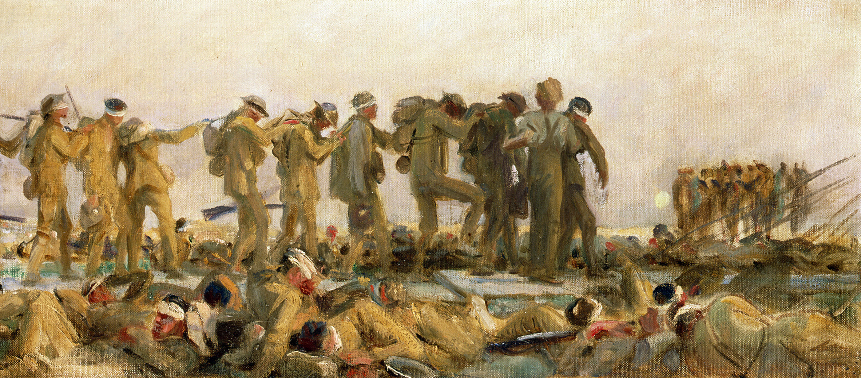 Oil study of Gassed, by John Singer Sargent, 1918–1919.