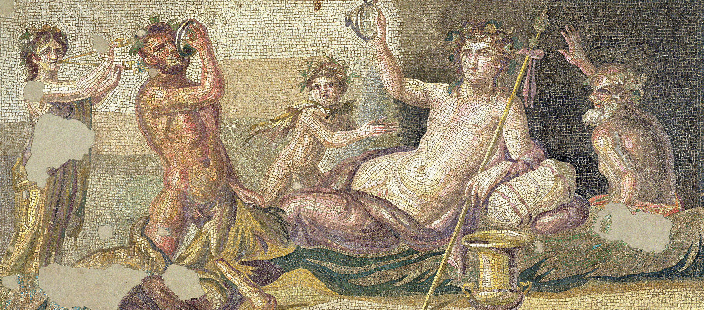 Drinking contest between Dionysos and Heracles