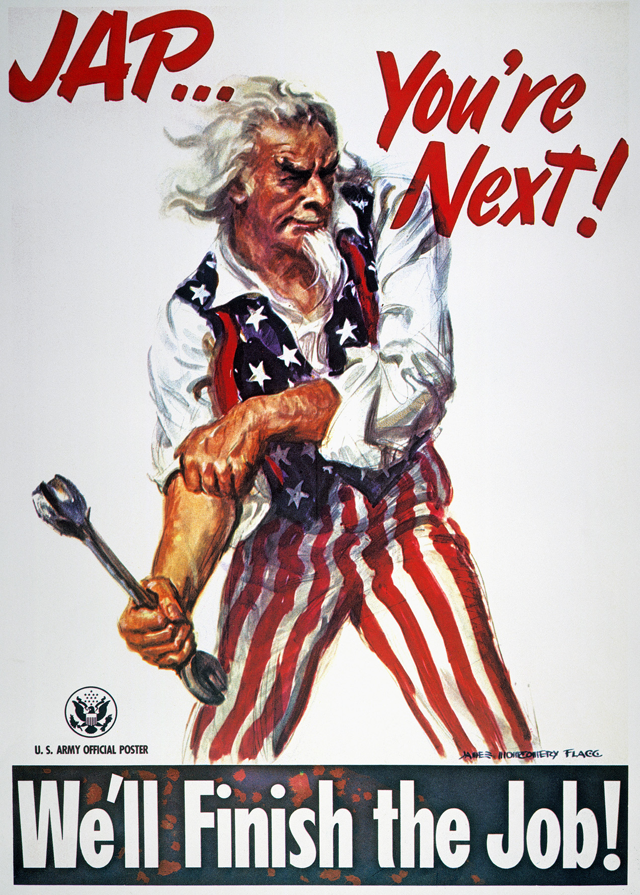 Jap…You're Next! We'll Finish the Job, by James Montgomery Flagg, 1944.