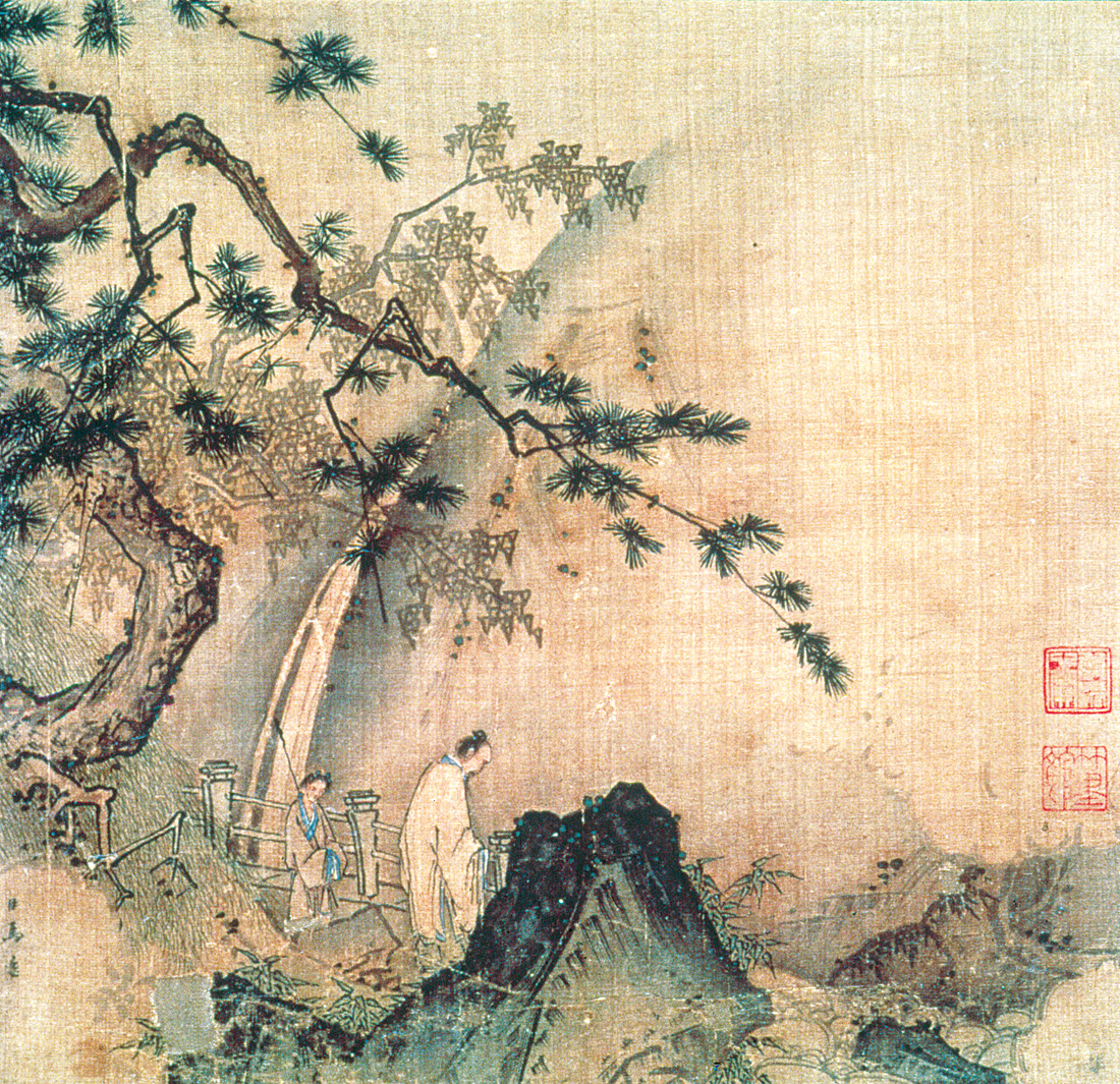 Scholar by a Waterfall, by Ma Yuan, c. 1190–1225. The Metropolitan Museum of Art, C. C. Wang Family, Gift of The Dillon Fund, 1973.