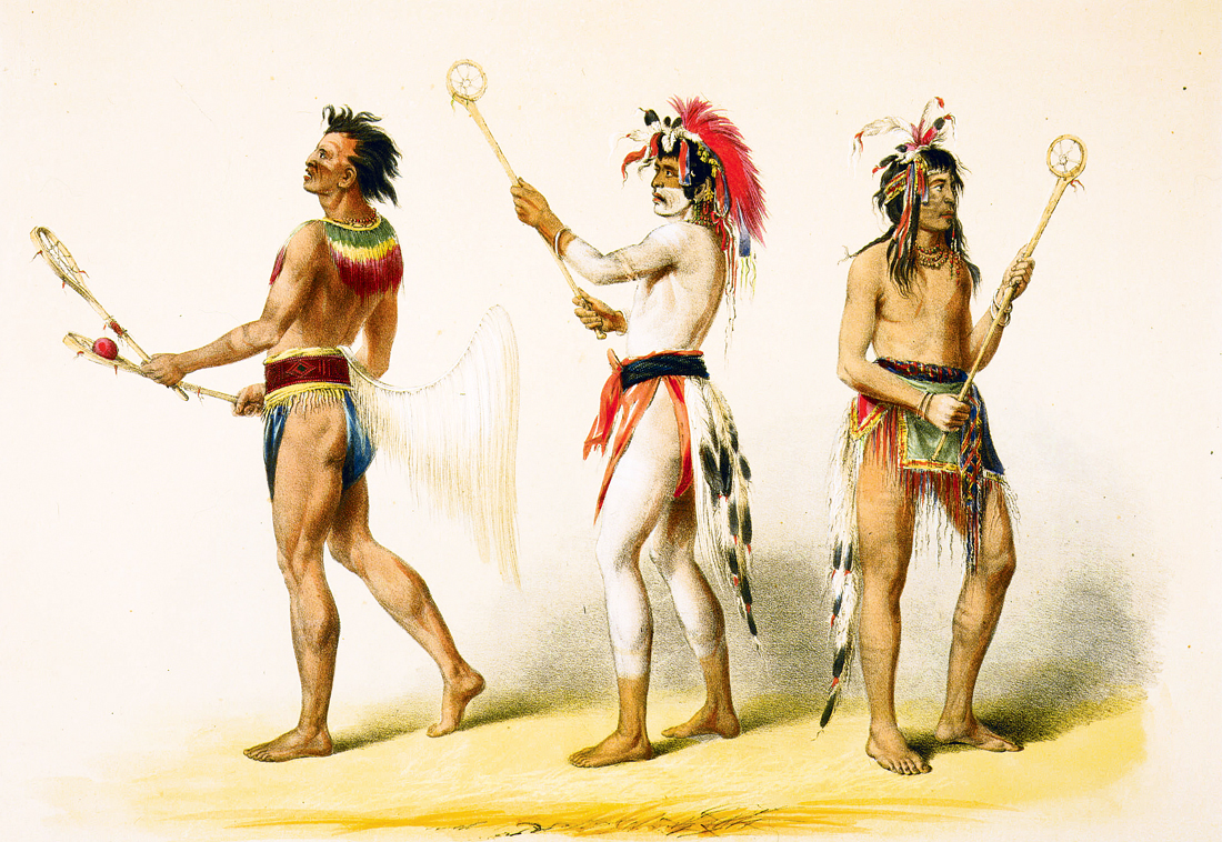Ball Players, by George Catlin, c. 1841. Smithsonian American Art Museum, Washington, D.C.