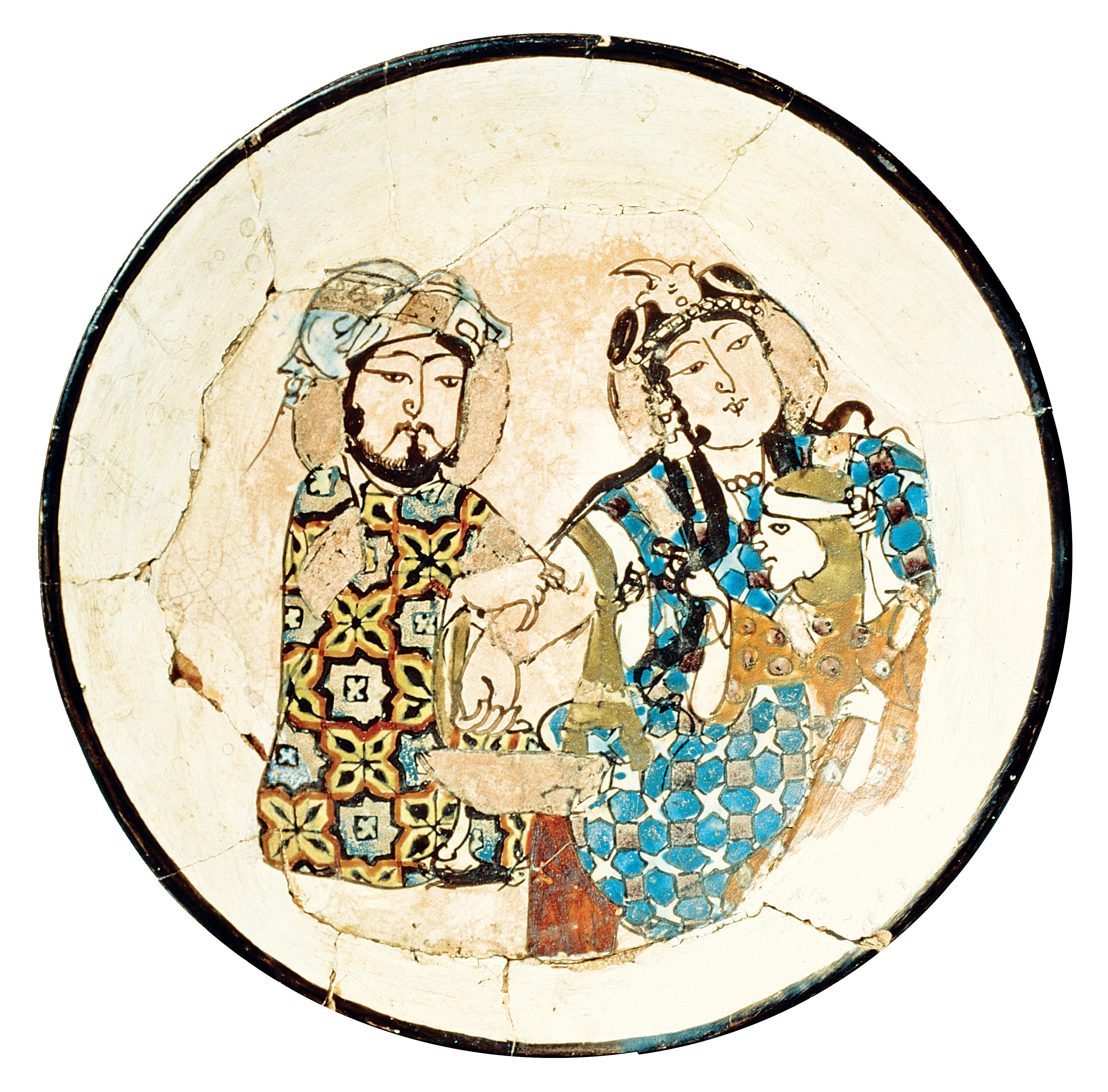 Ceramic bowl depicting a bloodletting, Iran, thirteenth century. Islamic Art Museum, Pergamon Museum, Berlin, Germany.