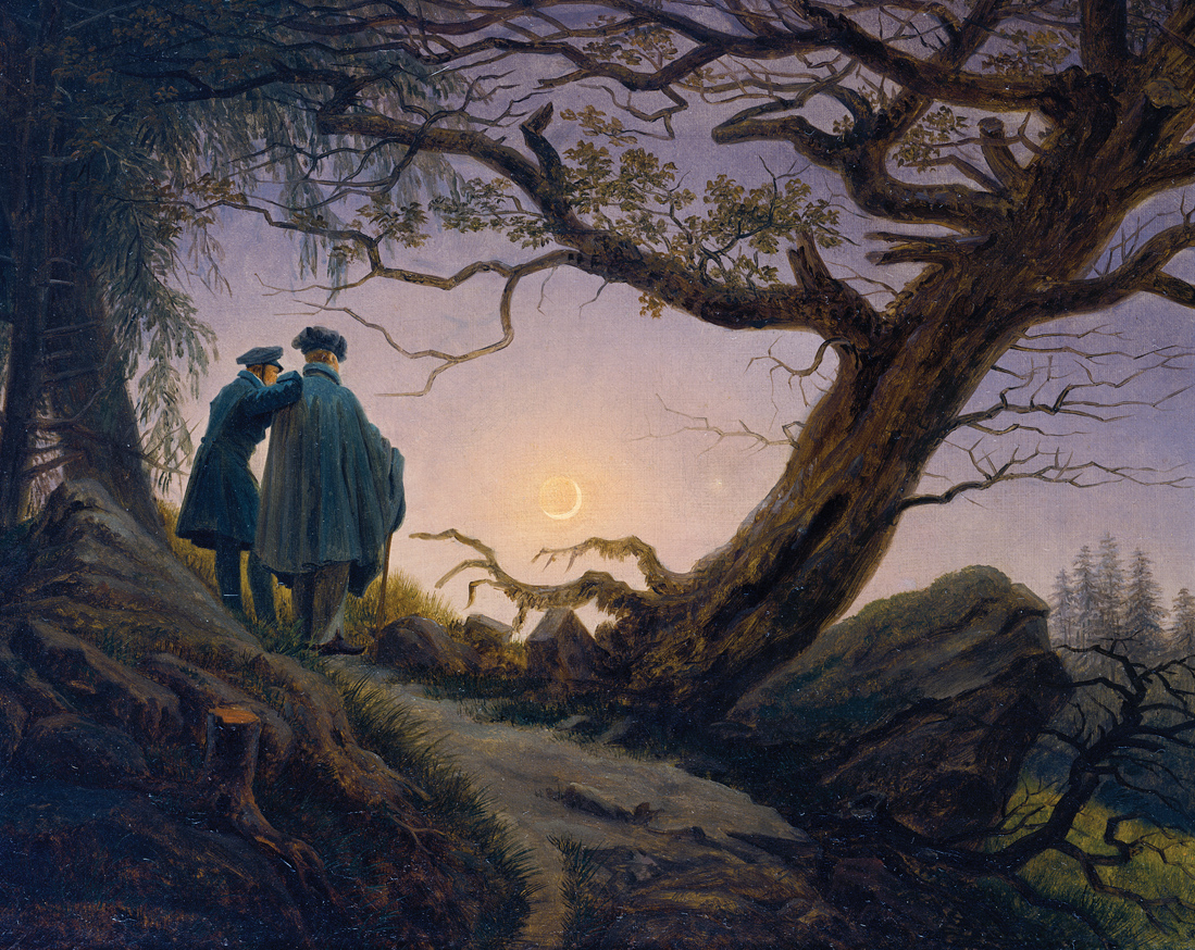 Two Men Contemplating the Moon, by Caspar David Friedrich, c. 1830. The Metropolitan Museum of Art, Wrightsman Fund, 2000.