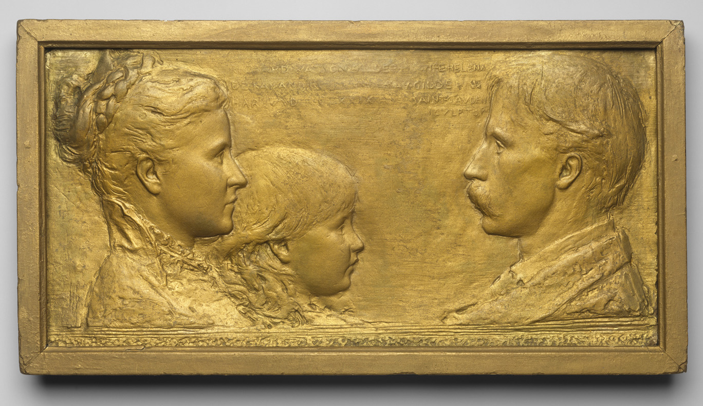 The Gilder Family, by Augustus Saint-Gaudens, c. 1883–84.