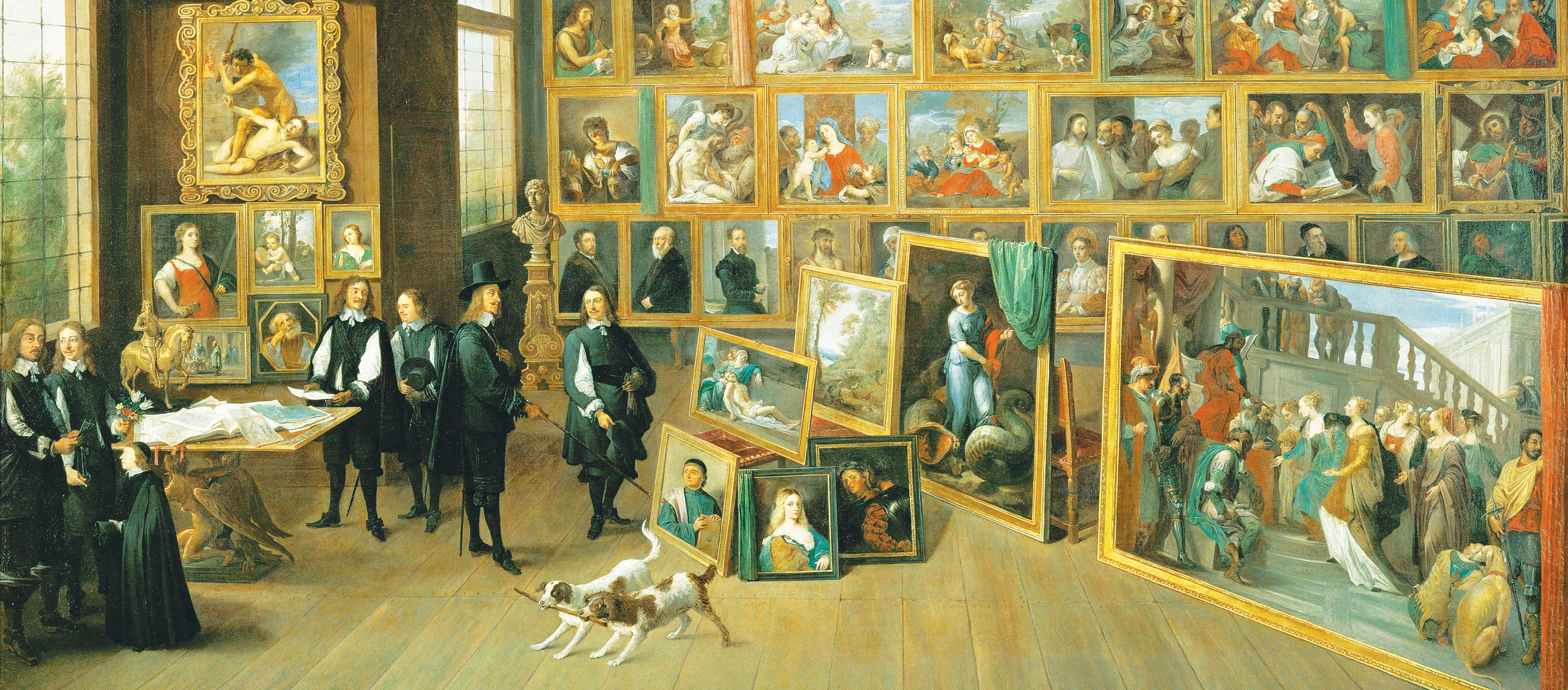 Archduke Leopold Wilhelm in his Gallery in Brussels, by David Teniers the Younger, c. 1651. Kunsthistorisches Museum, Vienna, Austria.