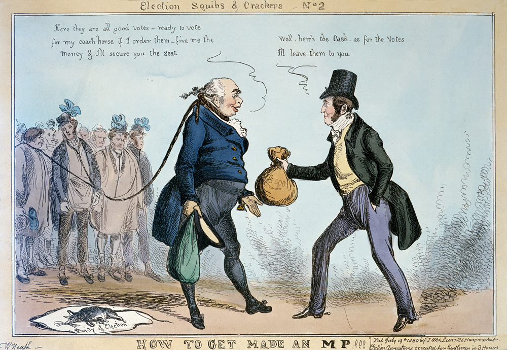 Election Squib & Crackers No. 2: How to Get Made an MP, by William Heath, 1830.