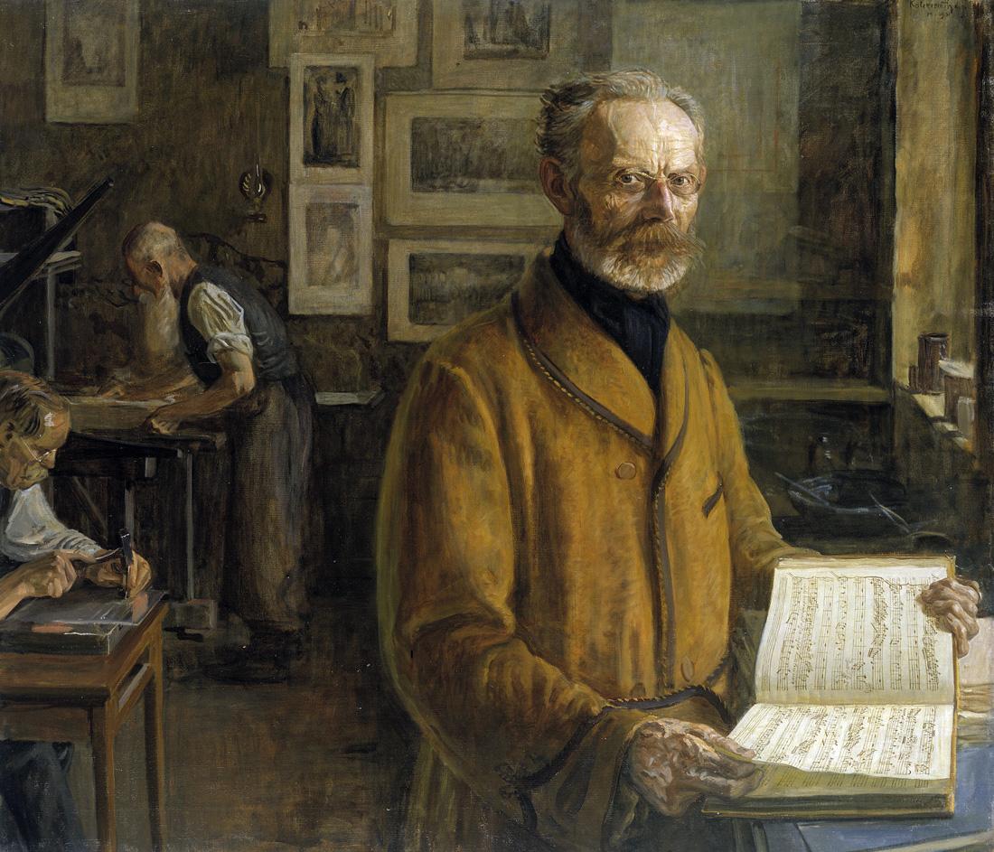 Portrait of Friedrich Chrysander, German music historian, by Leopold Graf von Kalckreuth, 1901. Kunsthalle, Hmaburg, Germany.