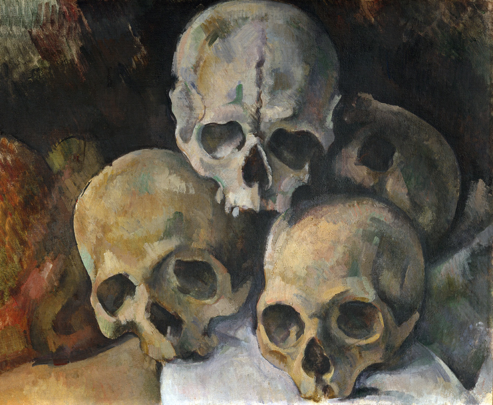 Pyramid of Skulls, by Paul Cézanne, c. 1899.
