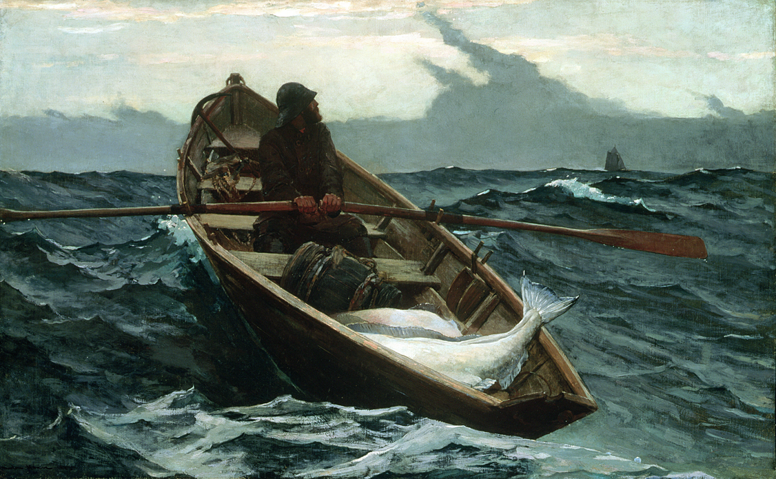 The Fog Warning, by Winslow Homer, 1885.