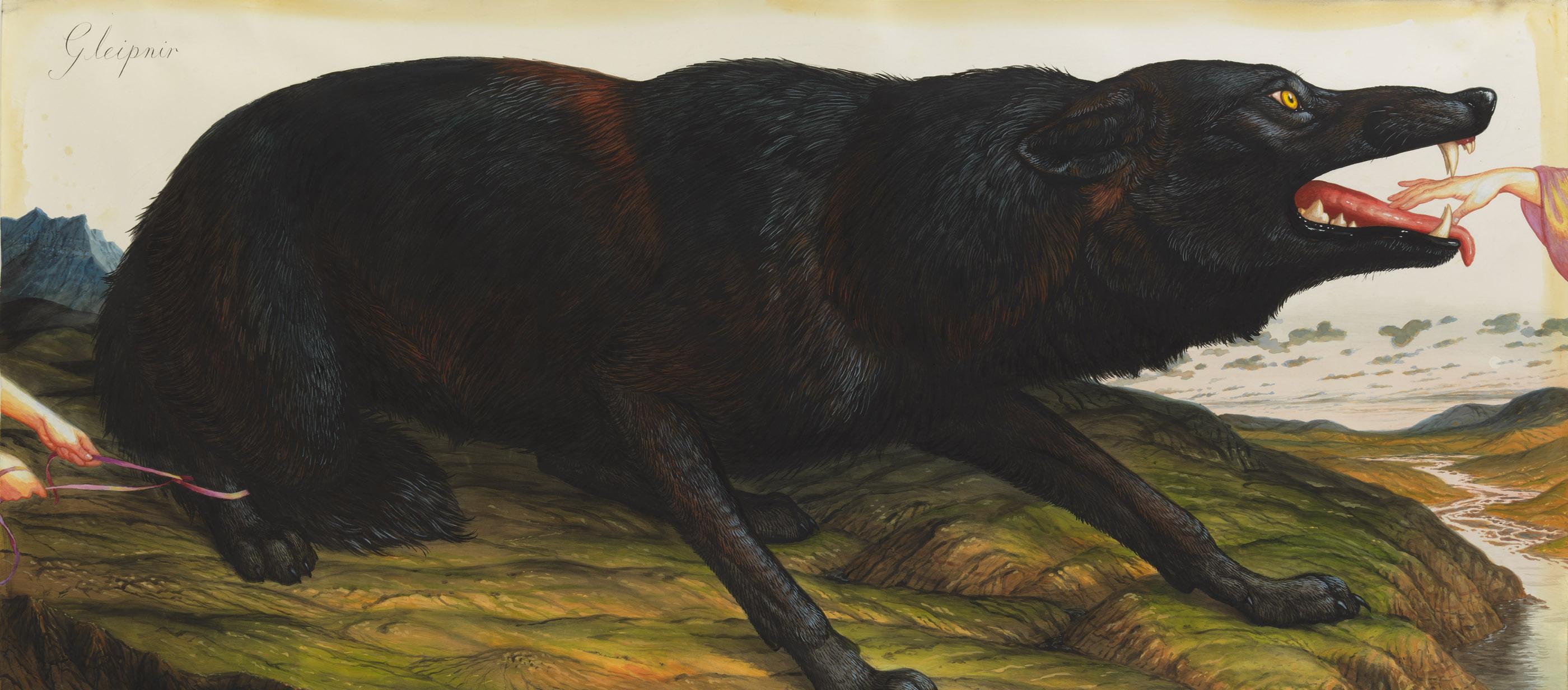 Gleipnir, by Walton Ford, 2012.
