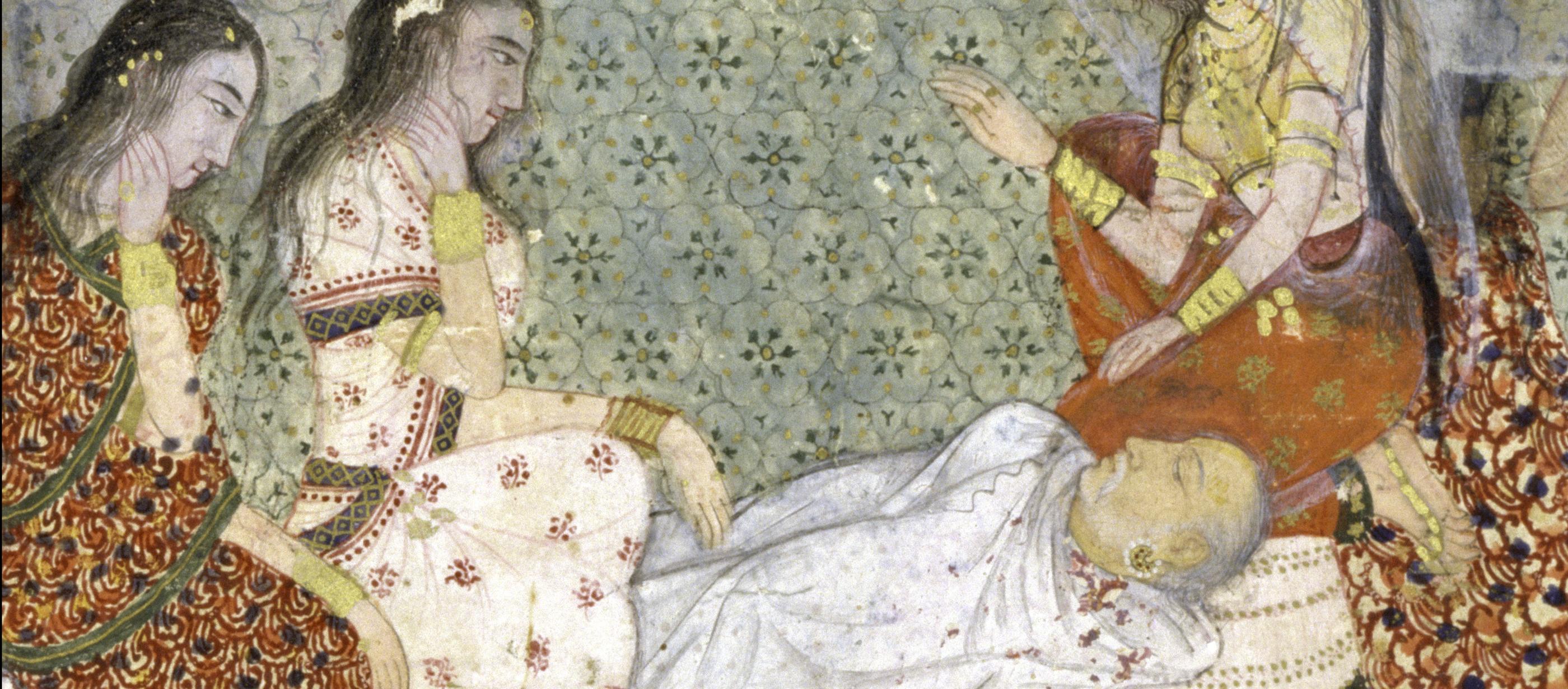 Death of King Dasharatha, father of Prince Rama