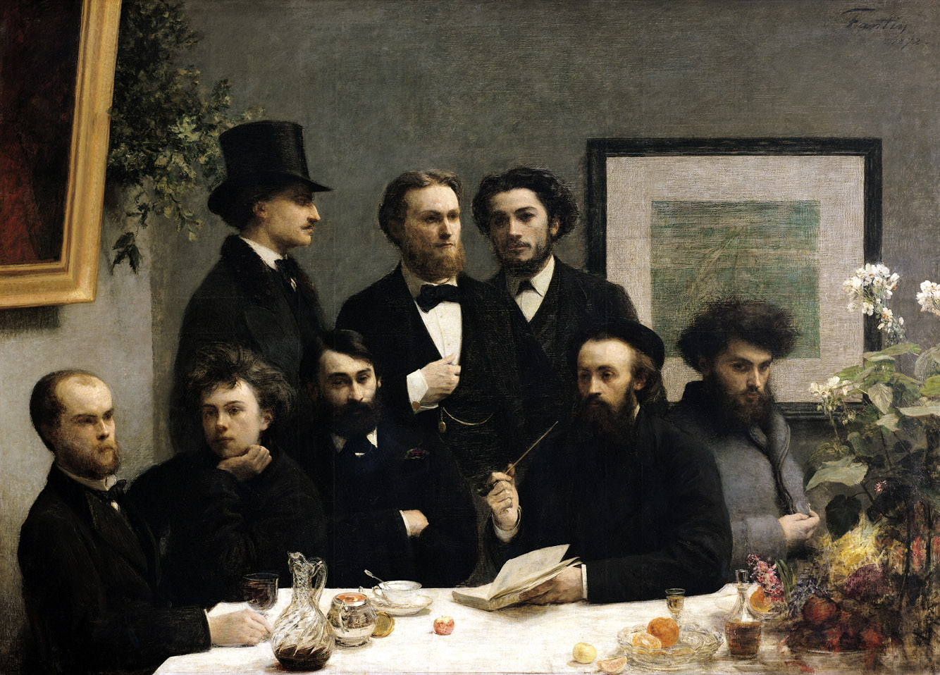 By the Table, by Henri Fantin-Latour, 1872.