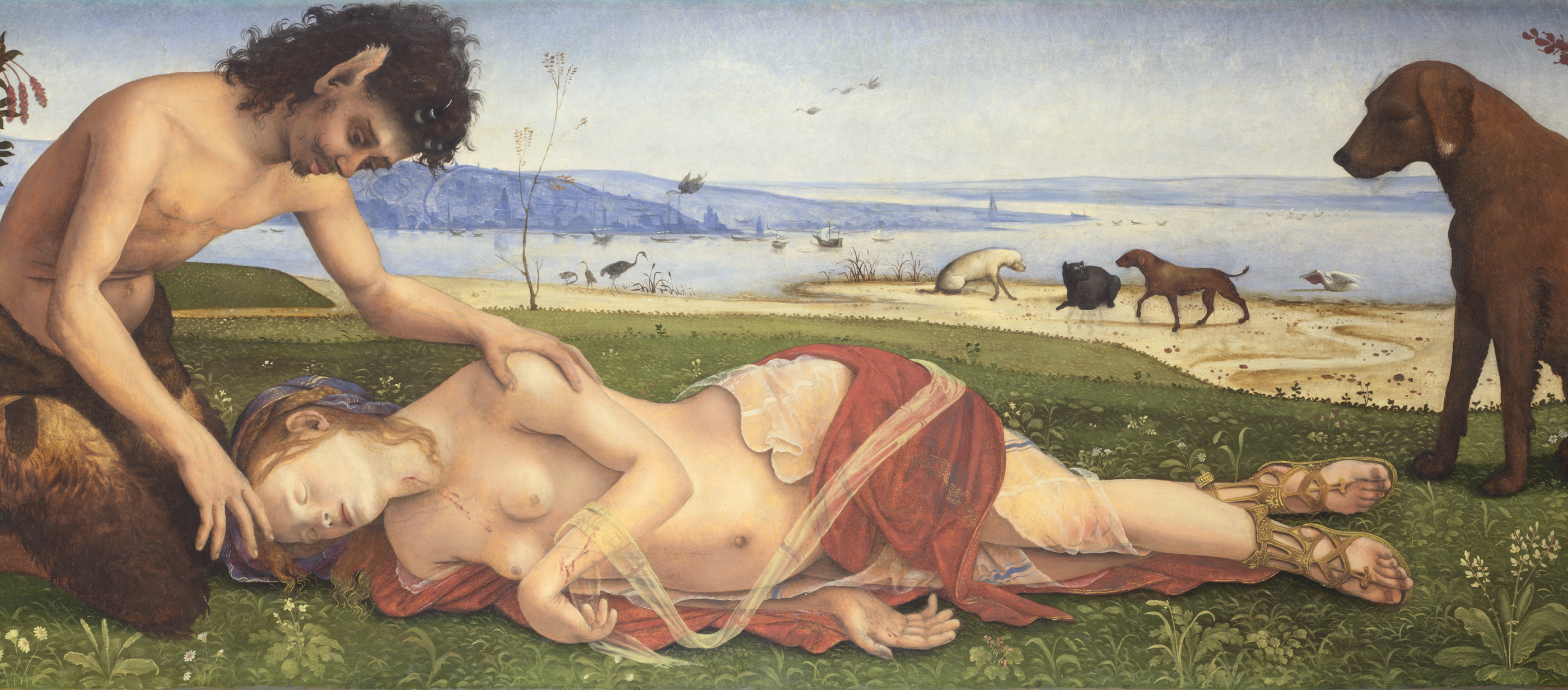 Satyr Mourning over a Nymph, by Piero di Cosimo, c. 1495.