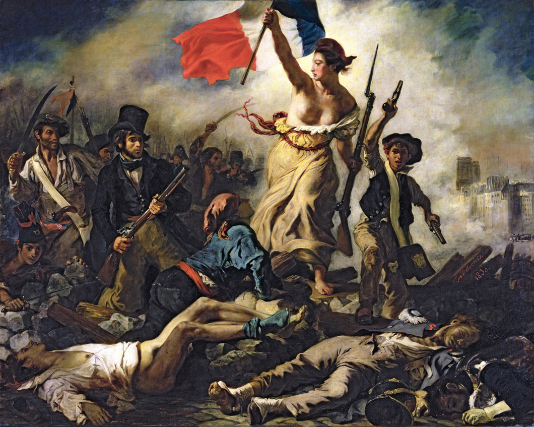 Liberty Leading the People, by Eugène Delacroix, 1830. Louvre Museum, Paris.