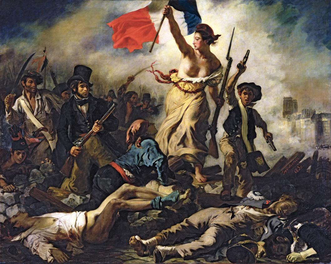 Liberty Leading the People, by Eugène Delacroix, 1830. Louvre Museum, Paris.