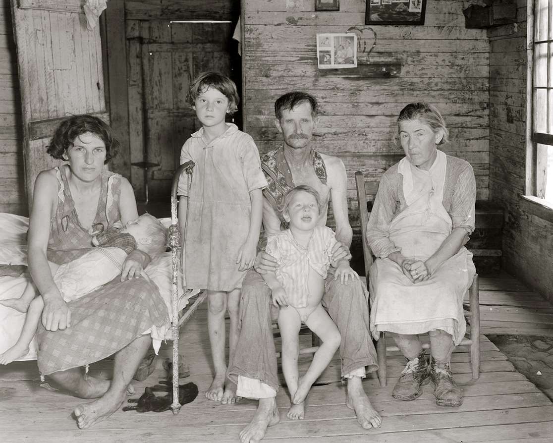 Sharecropper Bud Fields and his Family at Home, Hale County, Alabama, by Walker Evans, 1935.