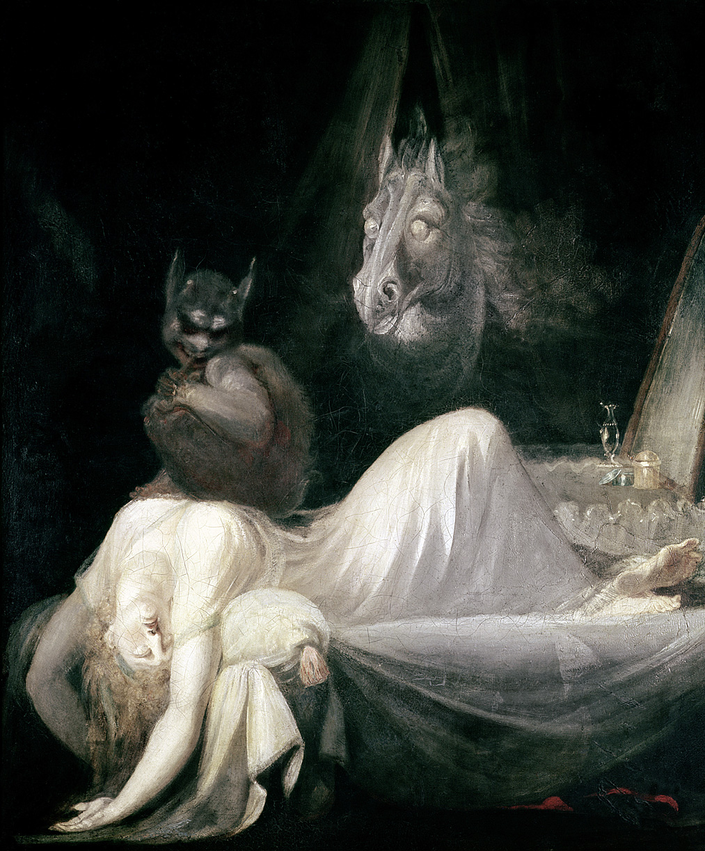 The Nightmare, by Henry Fuseli, c. 1790. Goethe House, Frankfurt am Main, Germany.