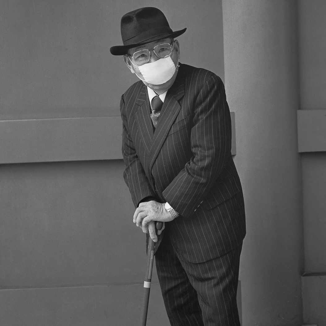 An Old Man With a Penetrating Gaze, from the series Asakusa Portraits, by Hiroh Kikai, 2001.