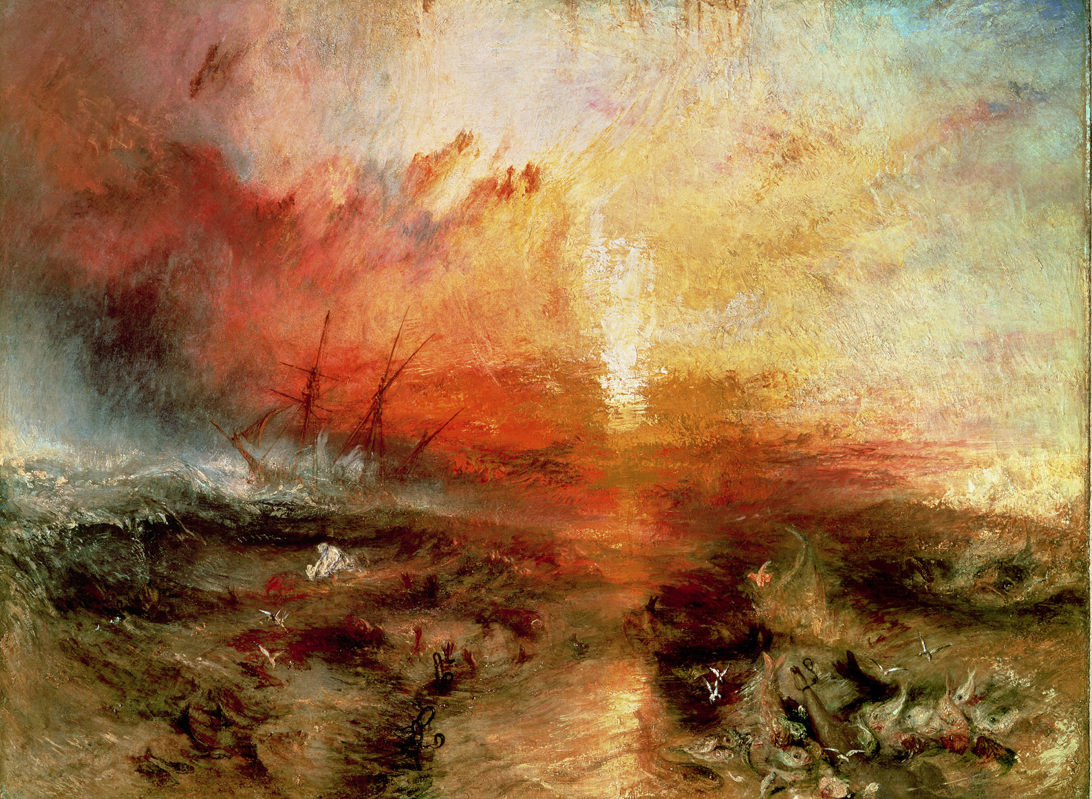 Slavers Throwing Overboard the Dead and Dying, Typhoon Coming On, by J. M. W. Turner, 1840.