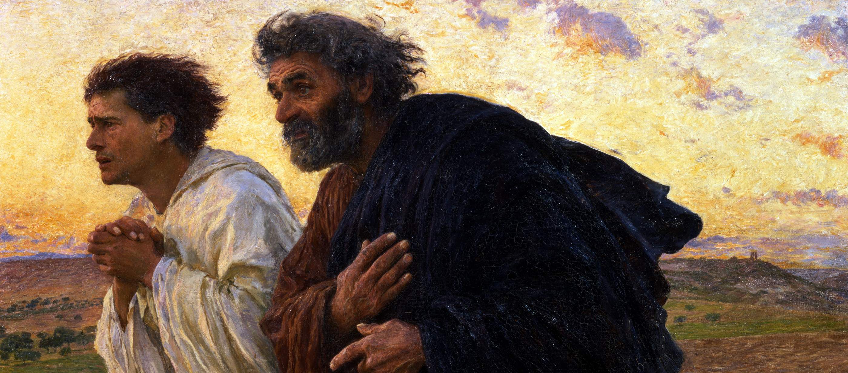 The Disciples Peter and John Running to the Sepulcher on the Morning of the Resurrection, by Eugène Burnand, 1898. Musée d'Orsay, Paris.