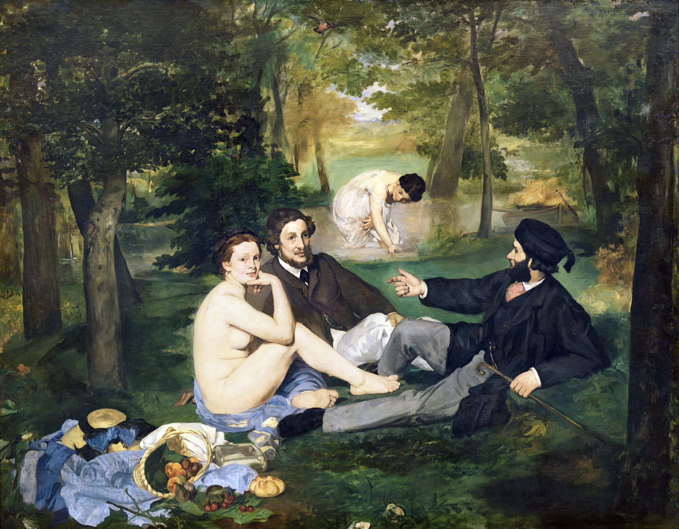 Luncheon on the Grass, by Édouard Manet, 1863. Musée d'Orsay, Paris.
