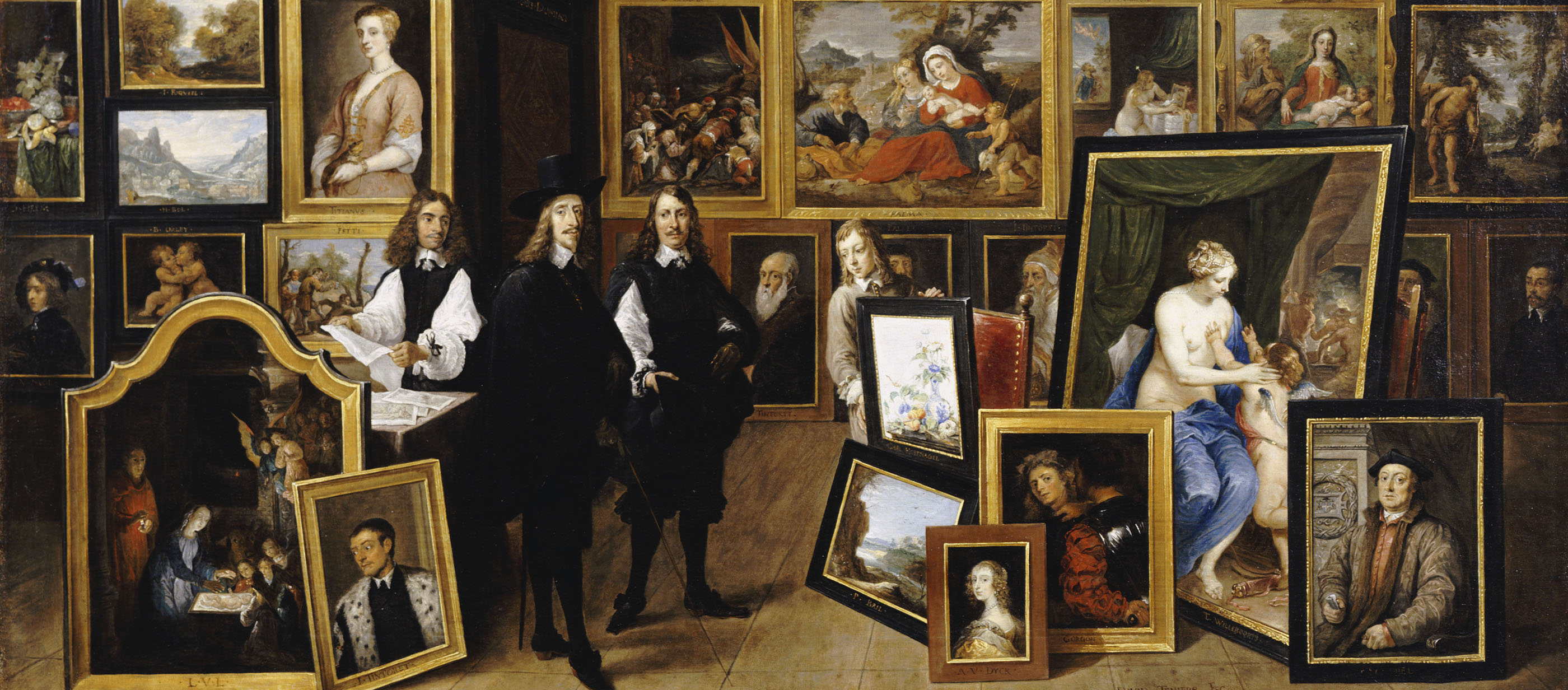 The Archduke Leopold Wilhelm in His Picture Gallery in Brussels, by David Teniers the Younger, 1653.