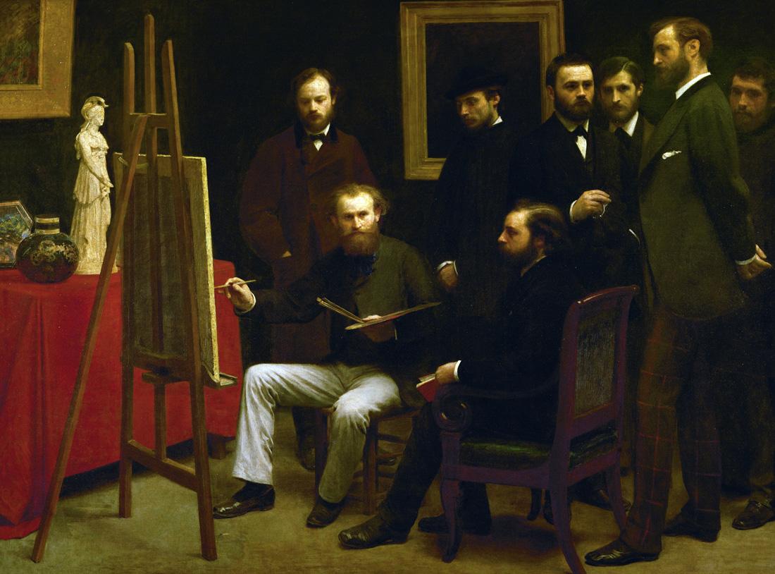 Studio in the Batignolles, by Henri Fantin-Latour, 1870. Musée d'Orsay, Paris, France.