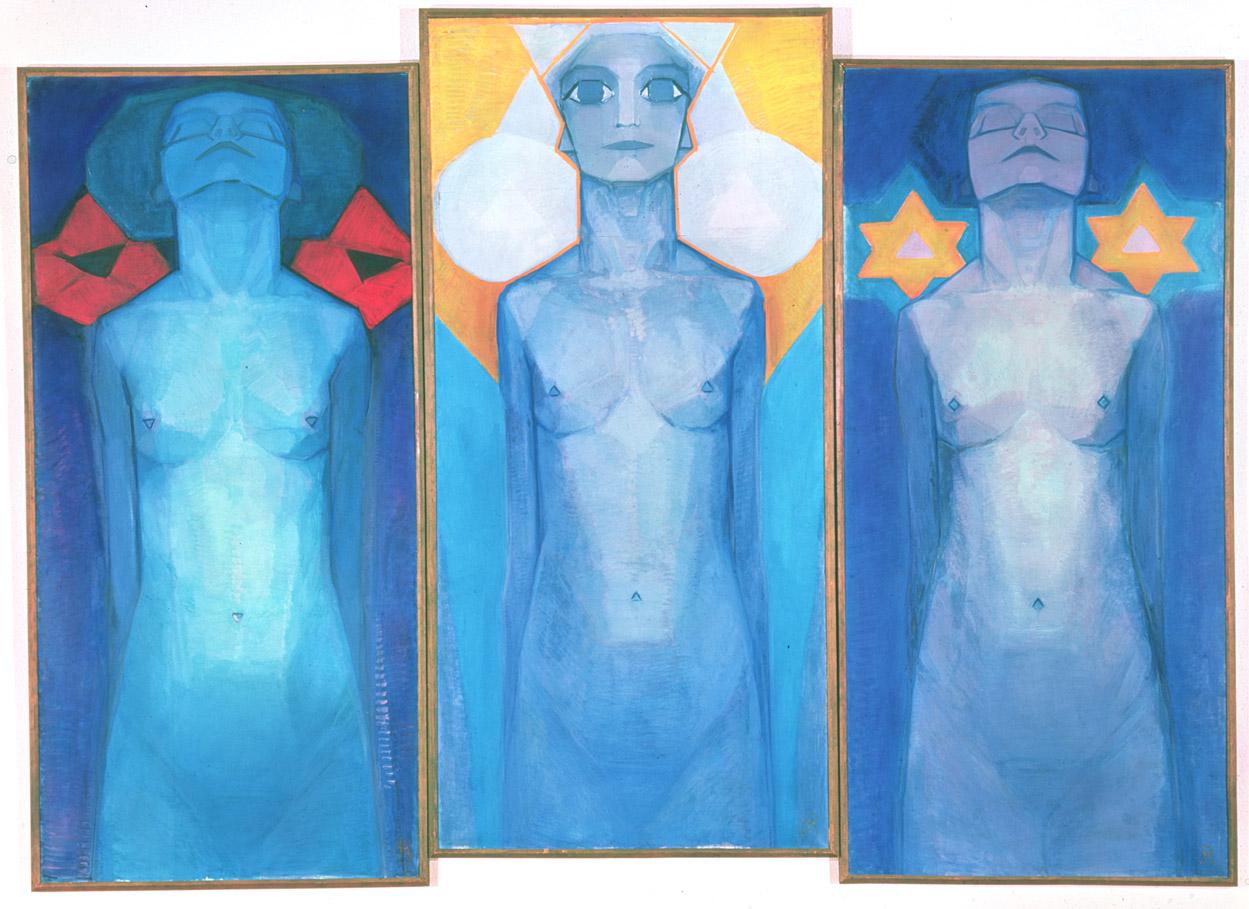 Evolution, by Piet Mondrian, 1911. Gemeentemuseum Den Haag, The Hague in the Netherlands
