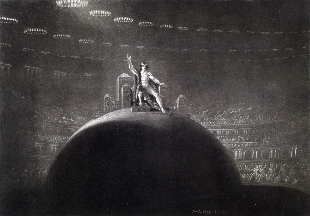 Satan Presiding at the Infernal Council, by John Martin, 1824. Victoria and Albert Museum, London.