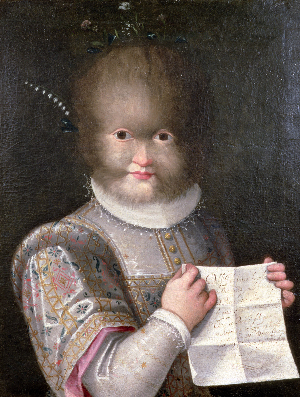 Portrait of Antonietta Gonsalus, by Lavinia Fontana, c. 1595.