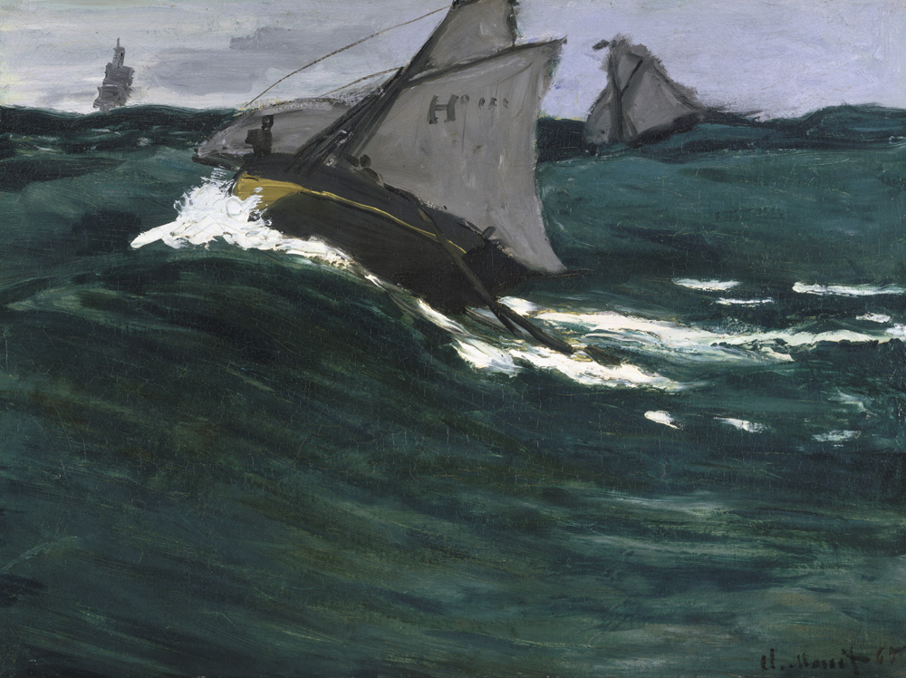 The Green Wave, by Claude Monet, c. 1865.