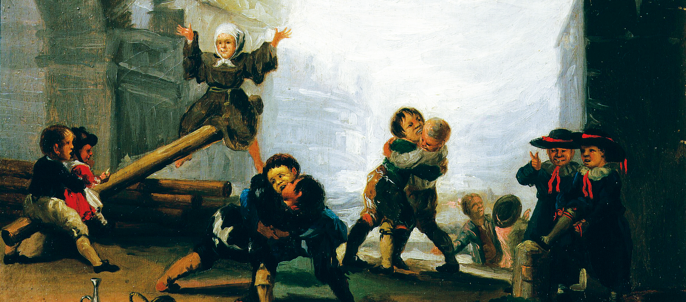 Boys Playing at Seesaw, attributed to Francisco José de Goya y Lucientes, c. 1785. National Museum, Gdańsk, Poland.