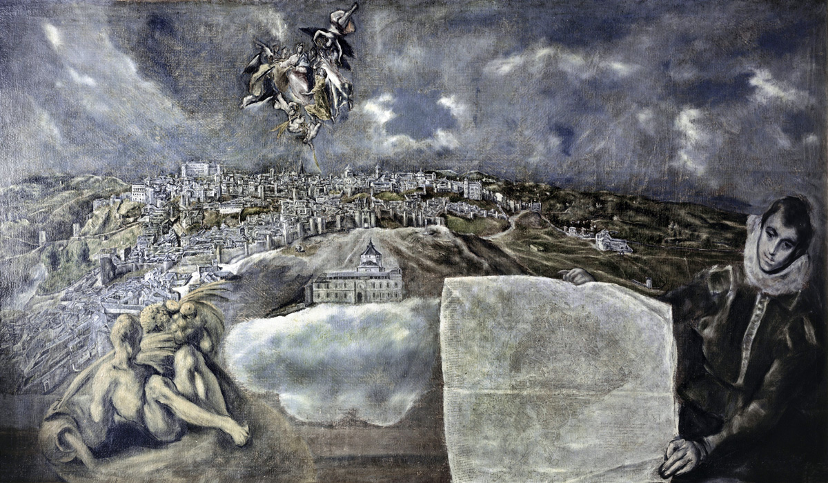View and Plan of Toledo, by El Greco, c. 1610. Museo del Greco, Toledo, Spain.