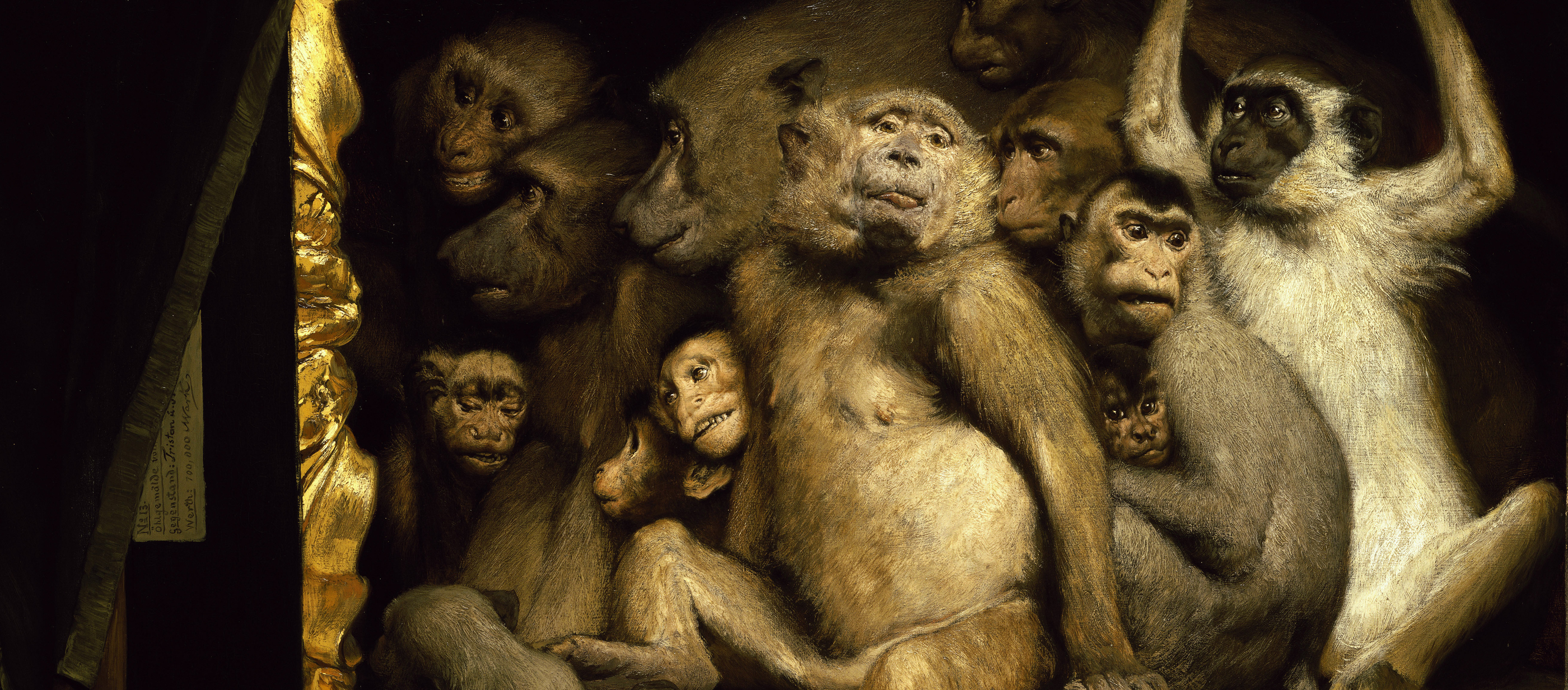 Monkeys as Judges of Art, by Gabriel Cornelius von Max