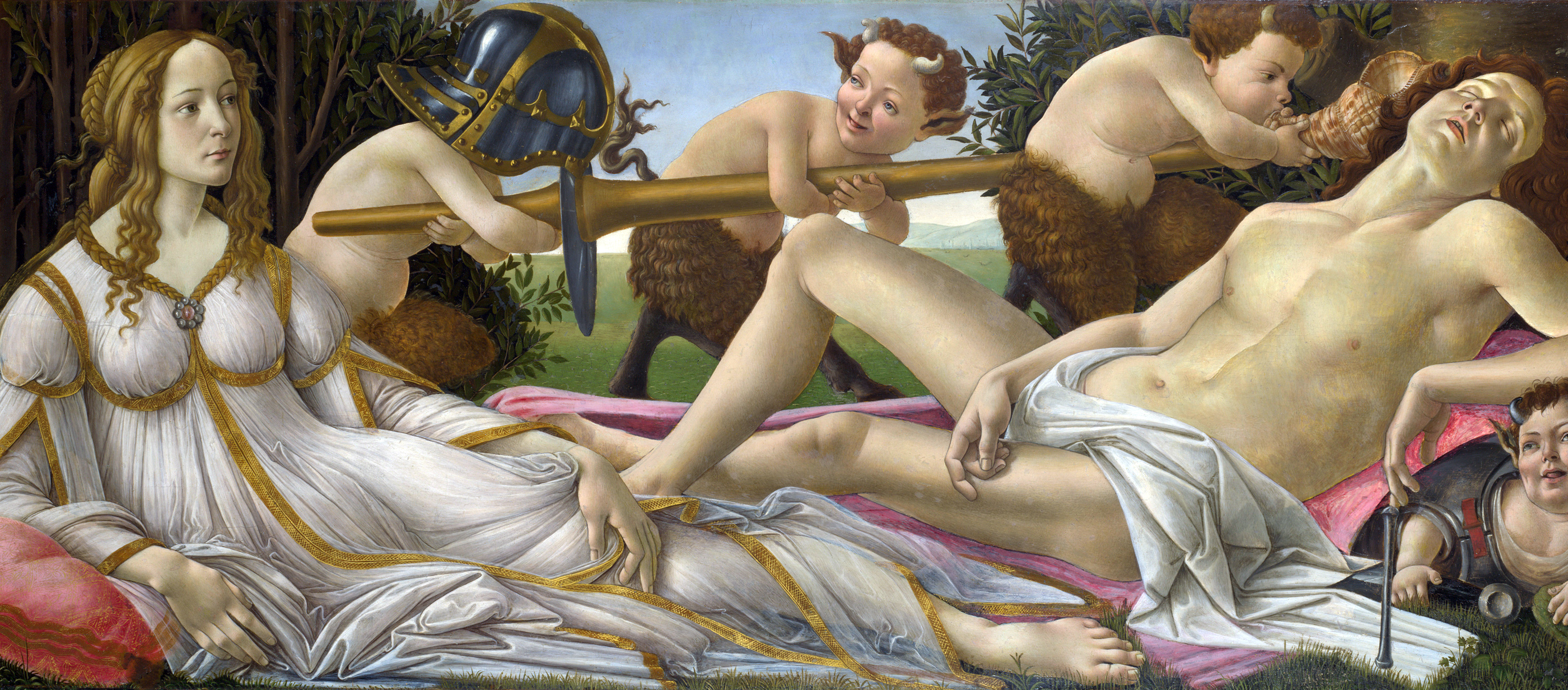 Mars and Venus, by Sandro Botticelli, c. 1485. National Gallery, London, England.