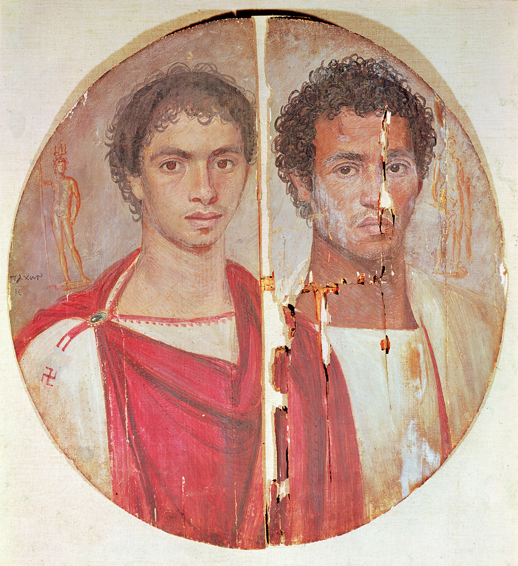 Portrait of two brothers, Egypt, second century. Egyptian National Museum, Cairo.