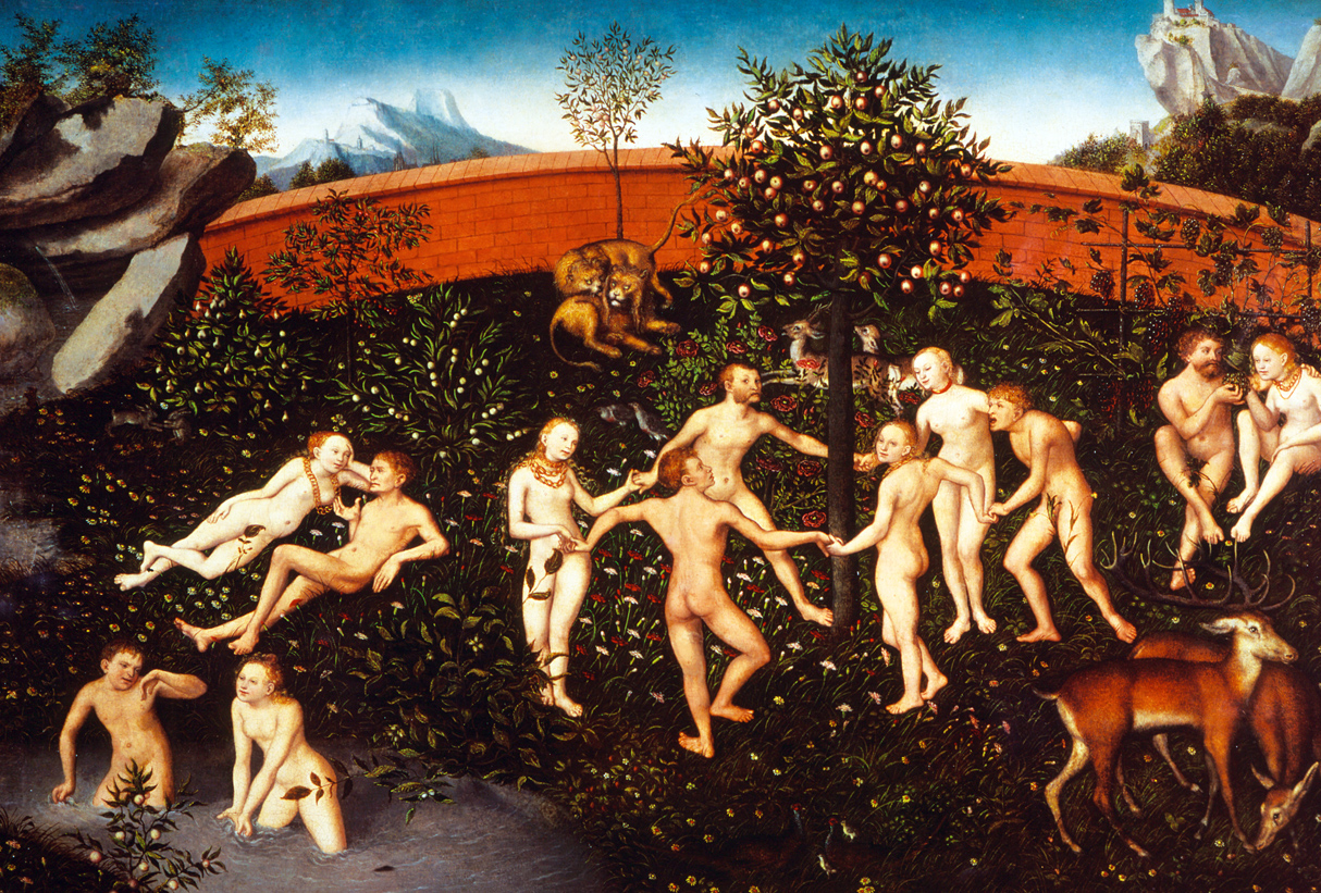 The Golden Age, by Lucas Cranach the Elder, c. 1530. National Museum of Art, Architecture and Design, Oslo, Norway.