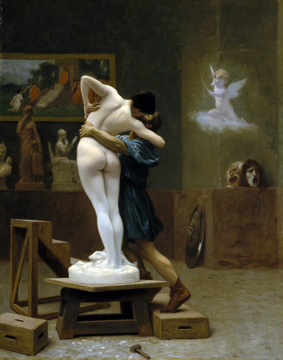 Pygmalion and Galatea, by Jean-Léon Gérôme, c. 1890. The Metropolitan Museum of Art, Gift of Louis C. Raegner, 1927. (