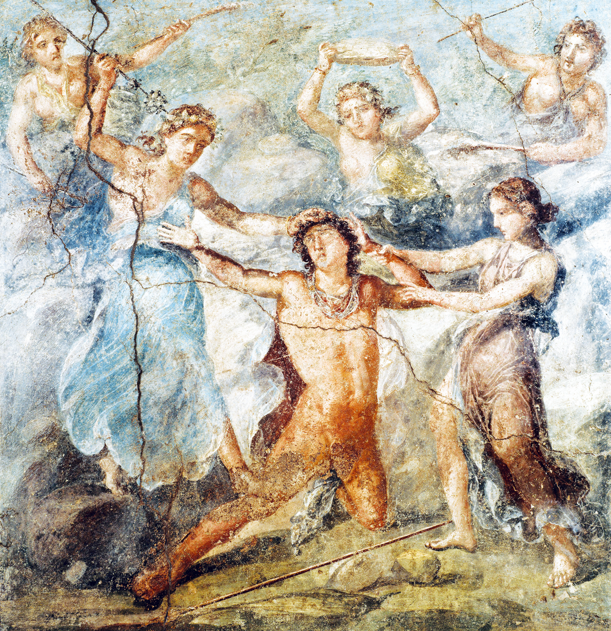. The Death of Pentheus, fresco in Casa dei Vettii, Pompeii, Italy, c. 79.