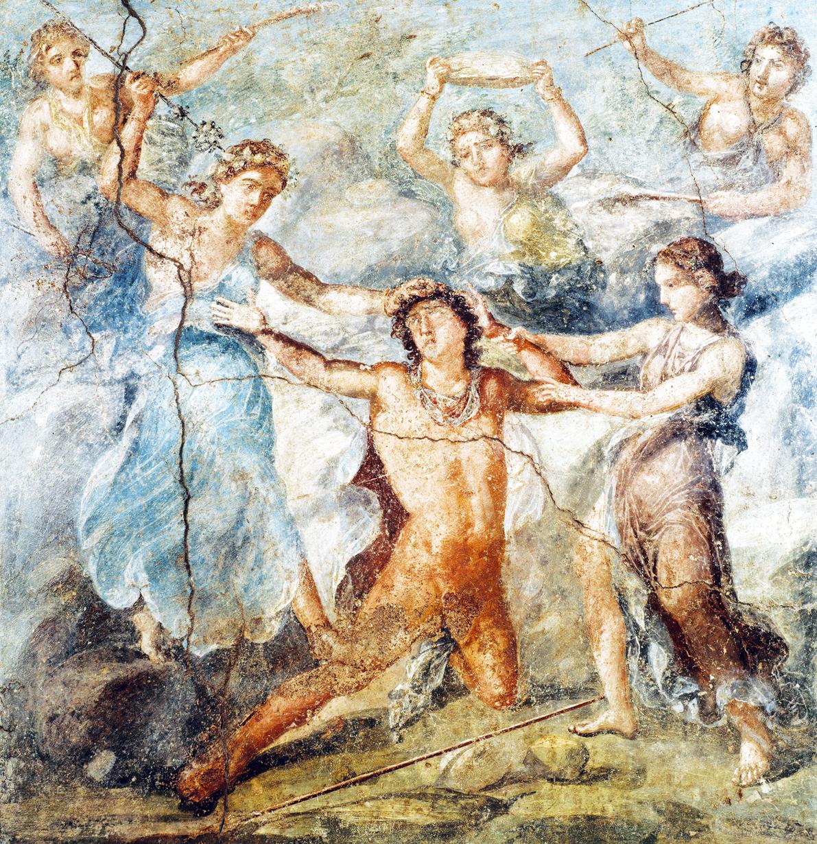 . The Death of Pentheus, fresco in Casa dei Vettii, Pompeii, Italy, c. 79.