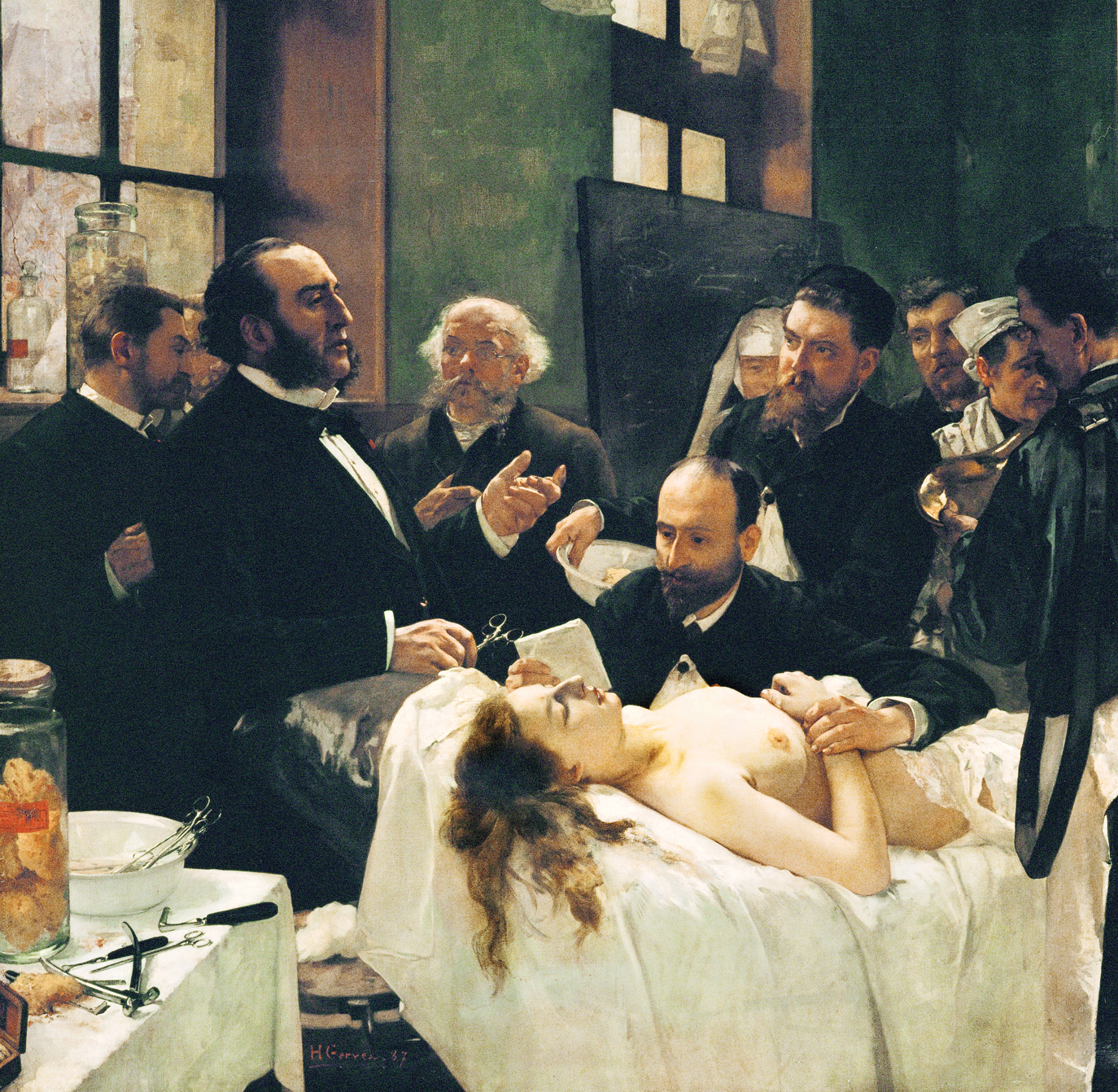 Before the Operation, by Henri Gervex, 1887. Musée d'Orsay, Paris, France.