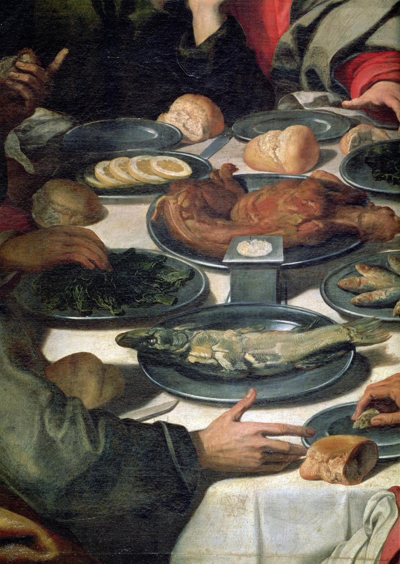 The Last Supper (detail), by Daniele Crespi, c. 1630. Pinacoteca di Brera, Milan.