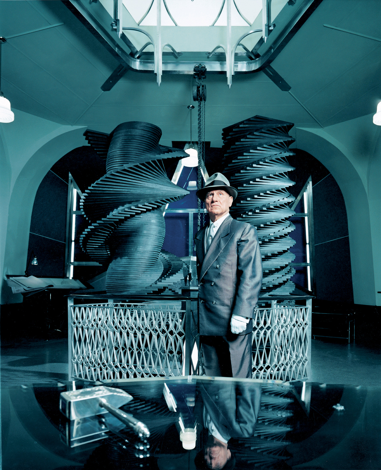 Richard Serra as Hiram Abiff in CREMASTER 3, by Matthew Barney, 2002. Photograph by Chris Winget. © 2002 Matthew Barney, courtesy Gladstone Gallery, New York and Brussels.