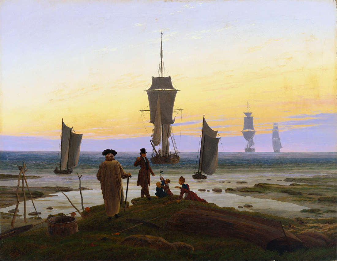 Stages of Life, by Caspar David Friedrich, c. 1835. Museum der bildenden Künste, Leipzig, Germany