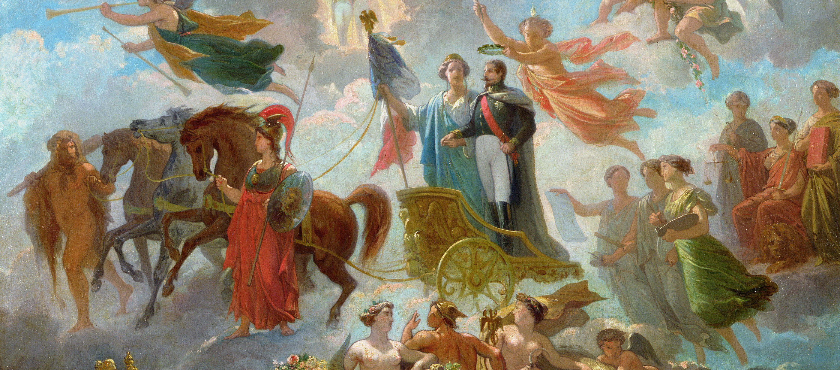 Apotheosis of Napoleon III, by Guillaume-Alphonse Harang Cabasson, 1854. Musée Compiègne, France.