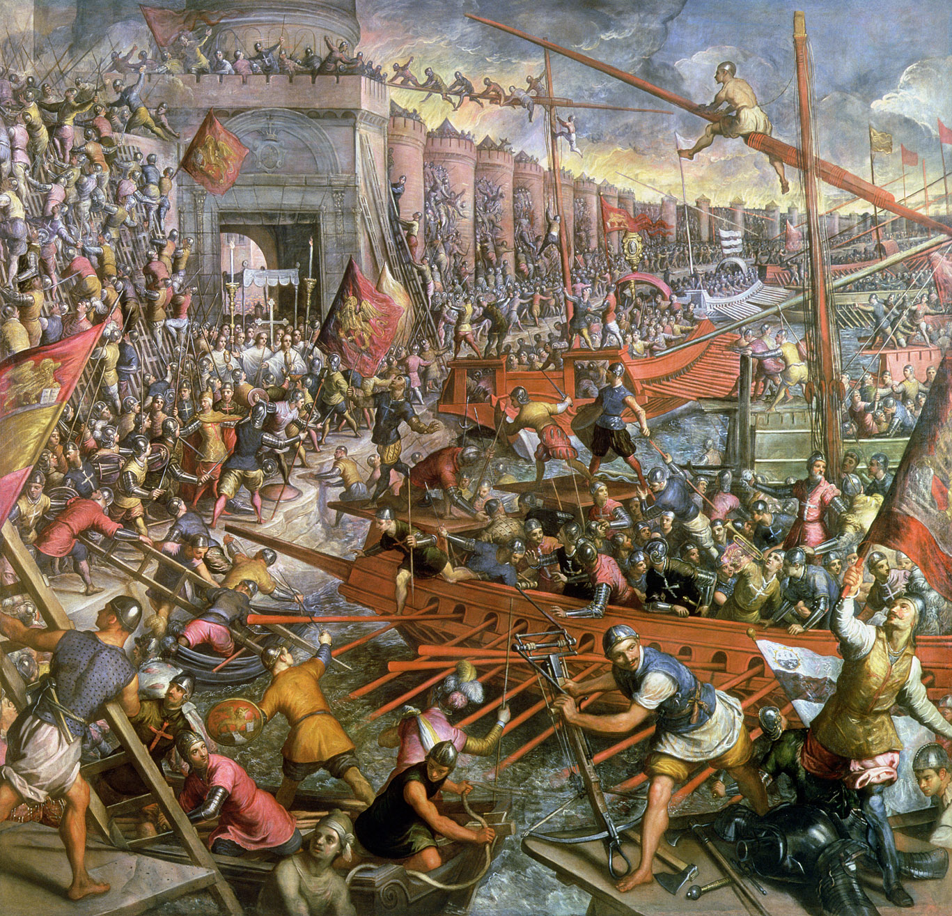 The Capture of Constantinople in 1204, by Tintoretto, c. 1580.