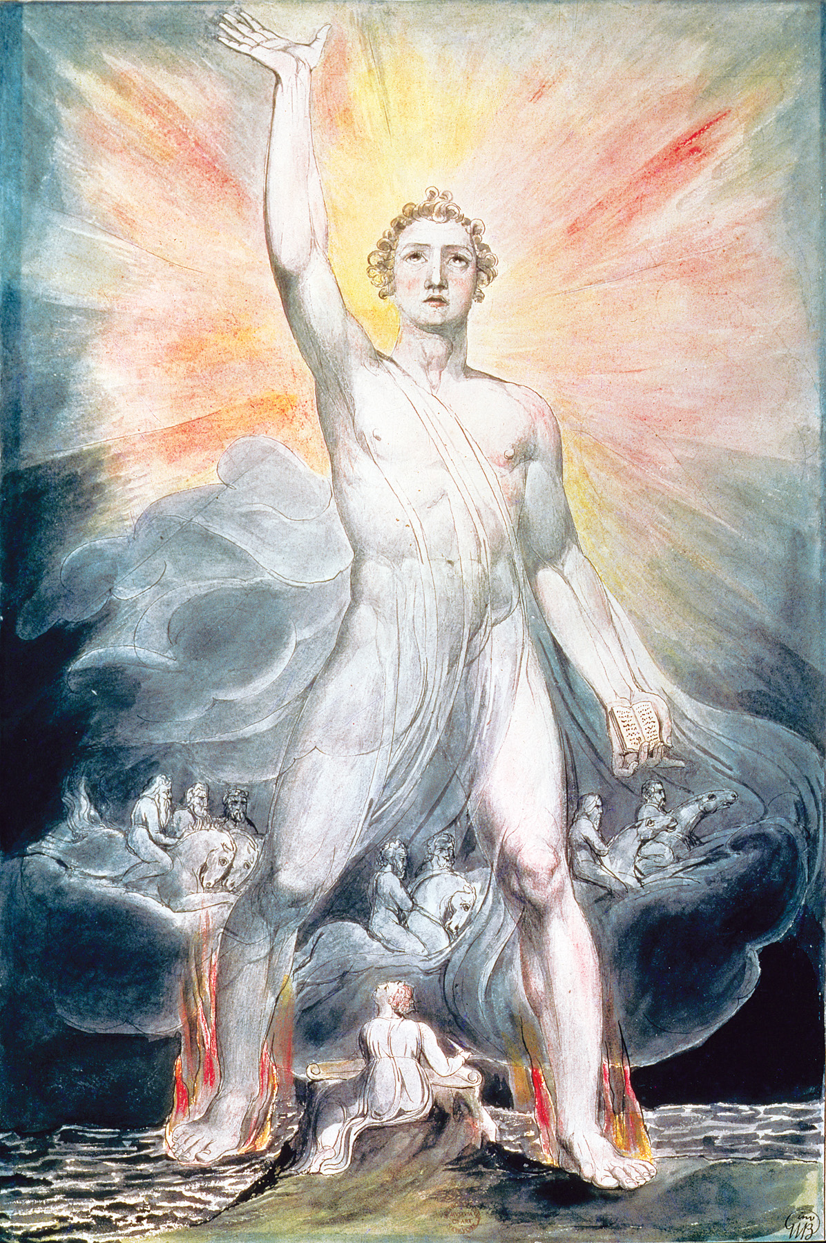 Angel of the Revelation, by William Blake, c. 1803–05. The Metropolitan Museum of Art, Rogers Fund, 1914.
