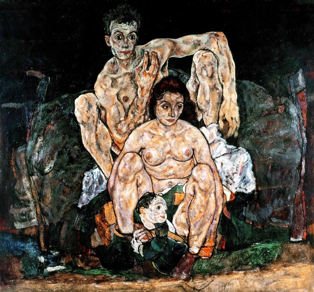The Family, by Egon Schiele, 1918. Österreichische Galerie Belvedere, Vienna, Austria.