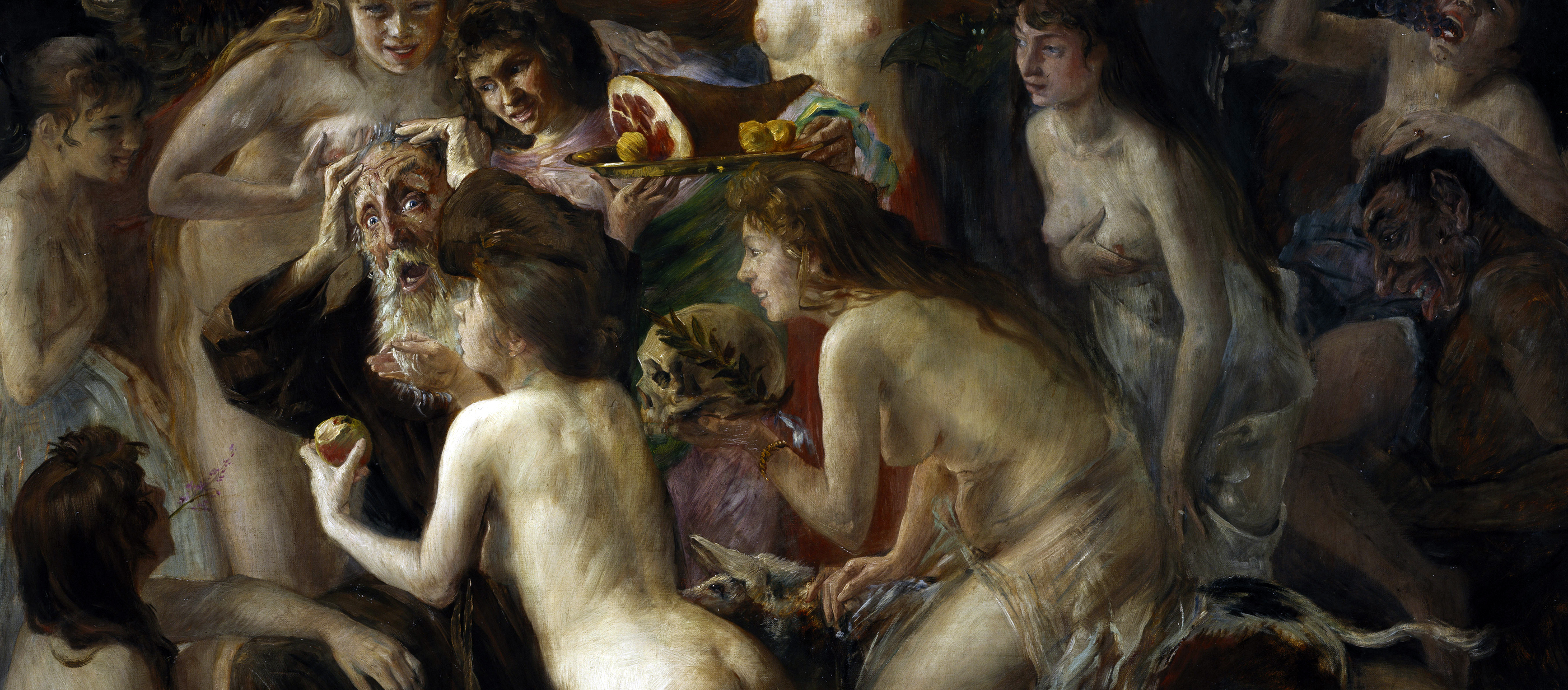 Temptation of St. Anthony, by Lovis Corinth, 1897.